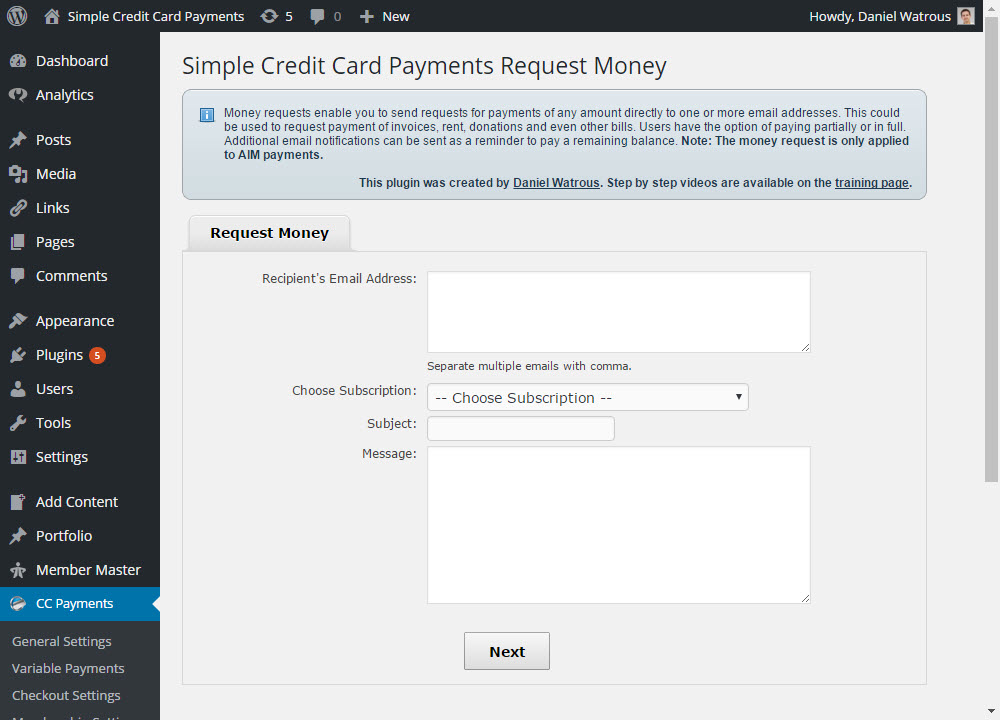 credit-card-payment-request-money